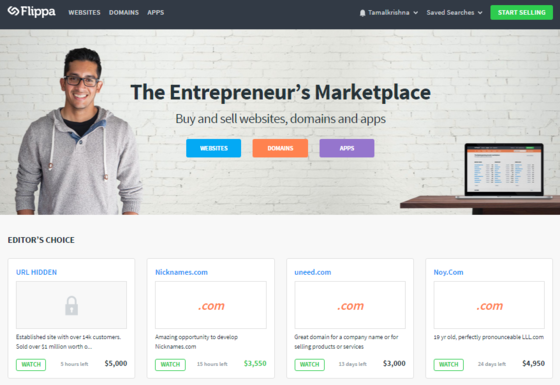 flippa marketplace