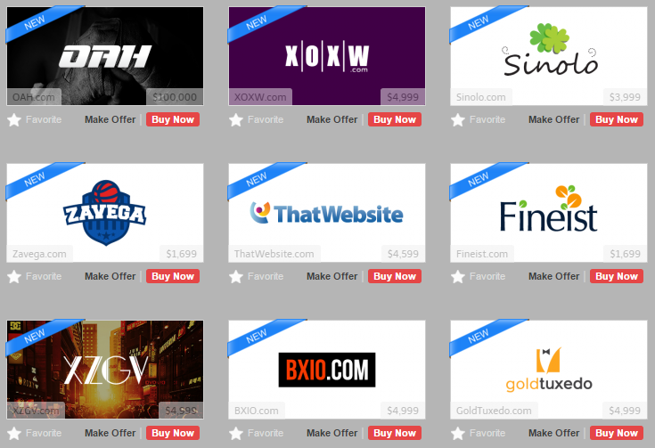 domain names with custom logos